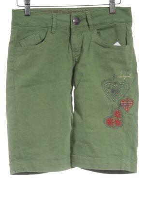 Desigual Shorts grasgrün-rot extravaganter Stil