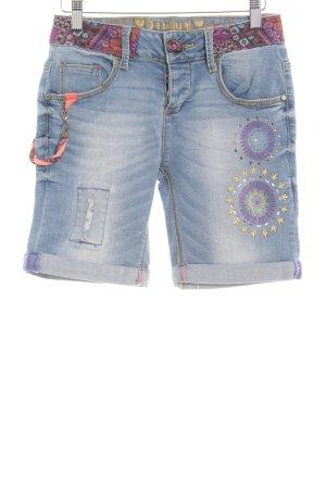 Desigual Shorts kornblumenblau Casual-Look