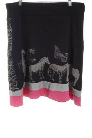Desigual Skater Skirt animal pattern casual look
