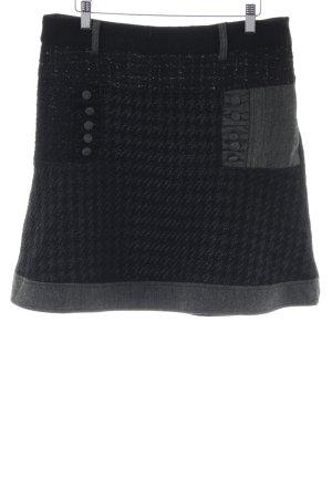 Desigual Falda de patinador gris claro-negro look casual