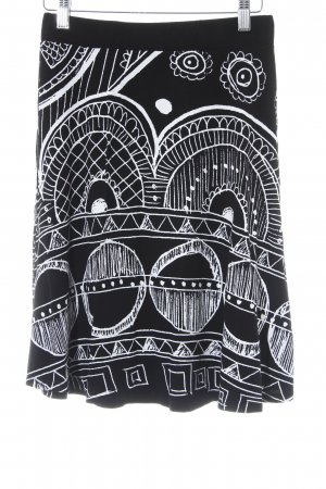 Desigual Skaterrock schwarz-weiß grafisches Muster Casual-Look