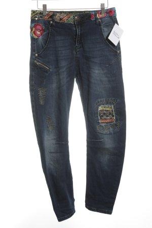 Desigual Skinny Jeans abstrakter Druck extravaganter Stil