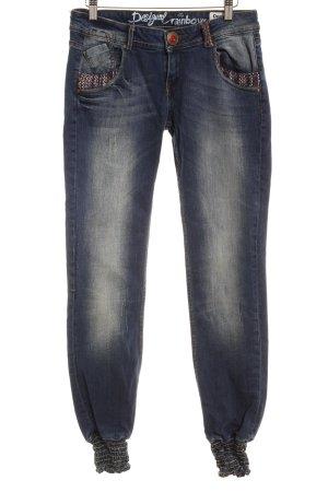 Desigual Skinny Jeans blau extravaganter Stil