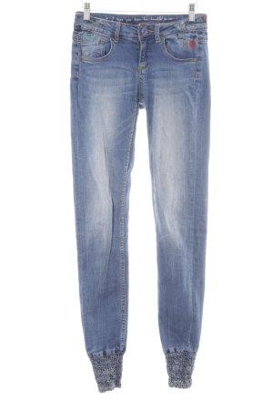 Desigual Skinny Jeans blue printed lettering casual look
