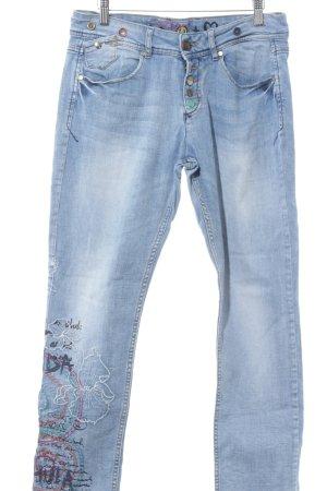 Desigual Skinny Jeans hellblau Casual-Look