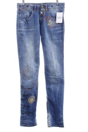 Desigual Skinny Jeans himmelblau Casual-Look