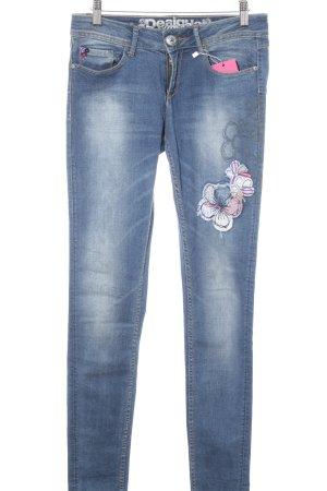 Desigual Jeans skinny azzurro-blu fiordaliso stile stravagante