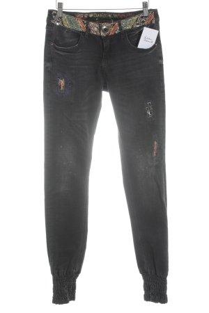 Desigual Skinny Jeans schwarz Casual-Look