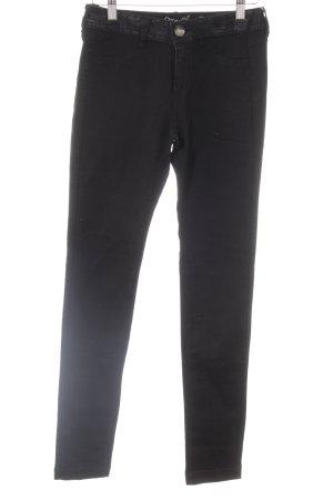 Desigual Skinny Jeans schwarz florales Muster Casual-Look