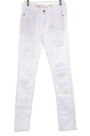Desigual Skinny Jeans weiß Casual-Look