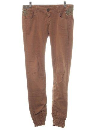 Desigual Slim Jeans braun Street-Fashion-Look