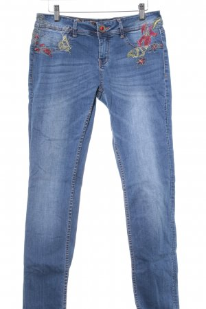 "Desigual Slim Jeans ""ALOHA REFRIPOSAS"" stahlblau"