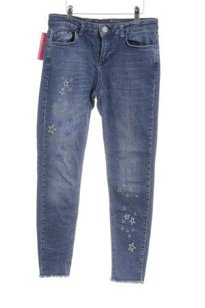 Desigual Slim Jeans blau Motivdruck Casual-Look