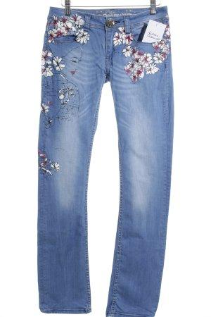 Desigual Slim Jeans Blumenmuster Casual-Look