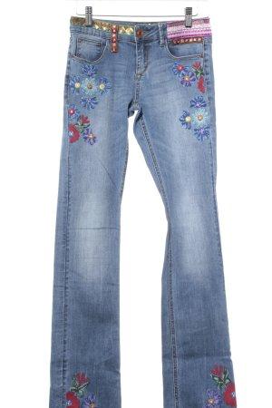 Desigual Slim Jeans Blumenmuster Hippie-Look