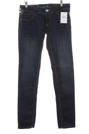 Desigual Slim Jeans dunkelblau Casual-Look