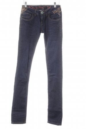 Desigual Slim Jeans dark blue jeans look