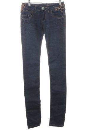 Desigual Slim Jeans dunkelblau Jeans-Optik
