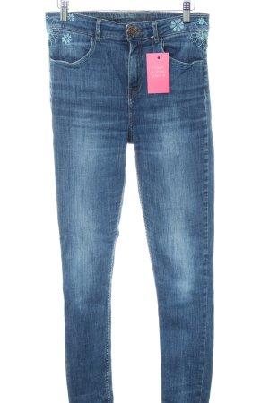 Desigual Slim Jeans blue flower pattern casual look