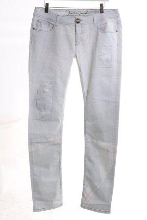 Desigual Slim Jeans hellgrau Casual-Look