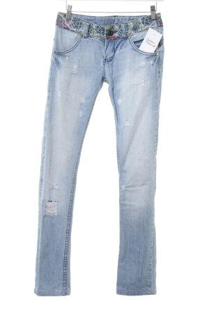 Desigual Slim Jeans himmelblau-kornblumenblau Casual-Look