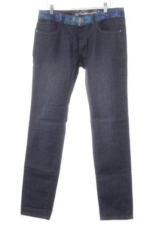 Desigual Slim Jeans psychedelic-Muster Casual-Look