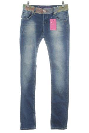 Desigual Slim Jeans stahlblau Casual-Look