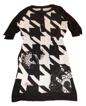 DESIGUAL Sommer Kleid schwarz weiß Gr. 38