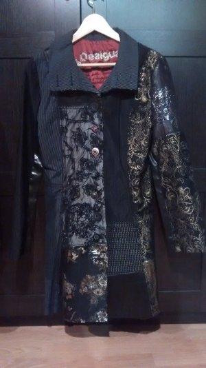 Desigual Sommer-Mantel in schwarz und gold