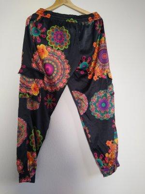 Desigual Pantalón estilo Harem multicolor tejido mezclado