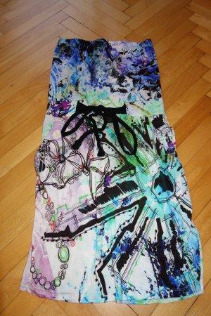 Desigual Vestido strapless multicolor Algodón