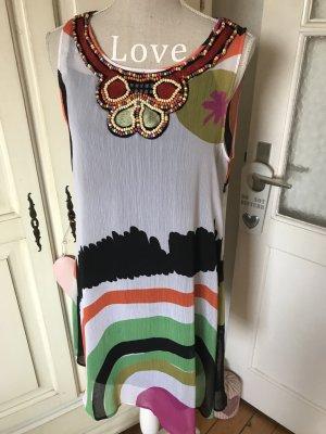 Desigual Sommerkleid tolle Farben mit Perlen besetzt 119€