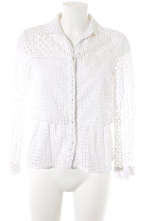 Desigual Kanten blouse wit casual uitstraling