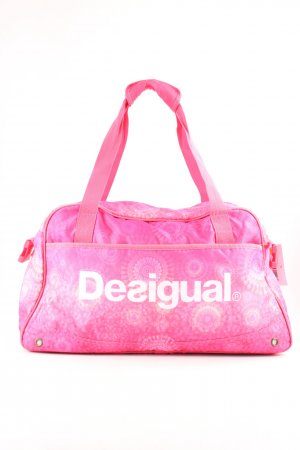 Desigual Sports Bag pink-white allover print athletic style