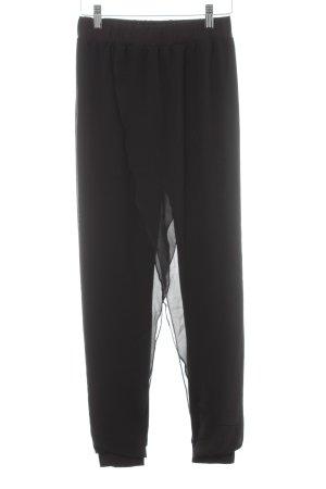 Desigual Stoffhose schwarz platzierter Druck extravaganter Stil