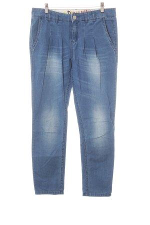 Desigual Jeans met rechte pijpen blauw casual uitstraling
