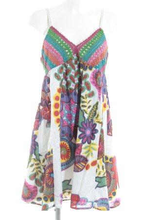 Desigual Vestido playero estampado floral estampado azteca