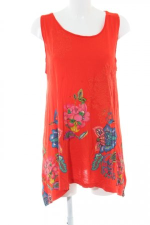 Desigual Beach Dress dark orange floral pattern beach look