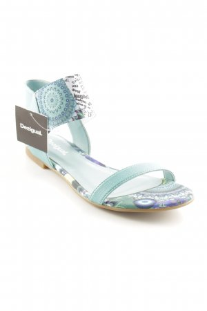 Desigual Strandsandalen cadet blauw abstract patroon casual uitstraling