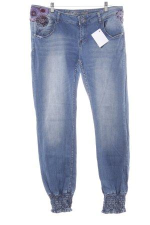 Desigual Stretch Jeans stahlblau Casual-Look