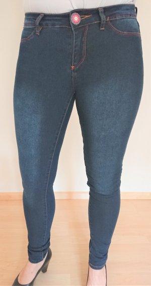 Desigual Jeans cigarette bleu foncé tissu mixte