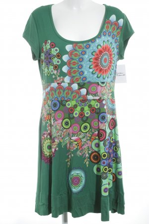 Desigual Stretch Dress mixed pattern embroidered logo