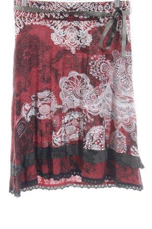 Desigual Falda stretch Mezcla de patrones estilo extravagante
