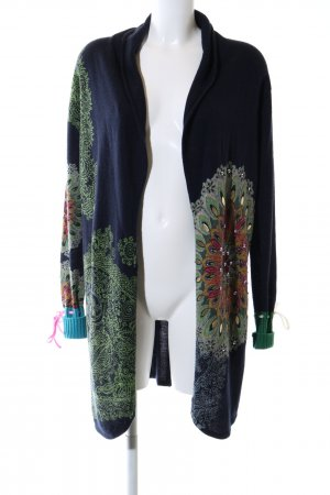 Desigual Knitted Coat abstract pattern casual look