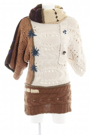 Desigual Knitted Poncho cable stitch casual look