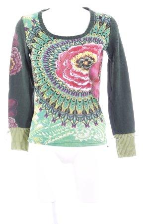 Desigual Gebreide trui abstract patroon Jaren 90 stijl
