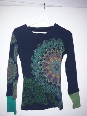 Desigual V-Neck Sweater multicolored cotton