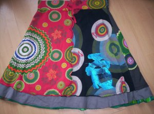 Desigual Circle Skirt multicolored cotton