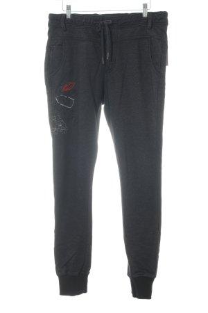 Desigual Pantalon de jogging noir lettrage brodé style décontracté