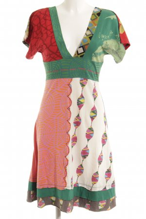 Desigual Sweat Dress mixed pattern extravagant style